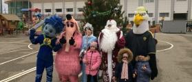 Стадион «Анжи Арена» провел новогодний детский праздник!